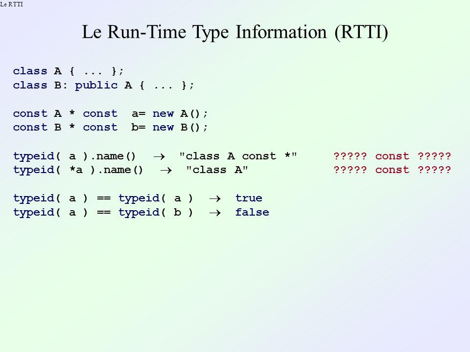 Des casts contrôlés en mode debug Inconvénient : il faut écrire le type source de lexpression.