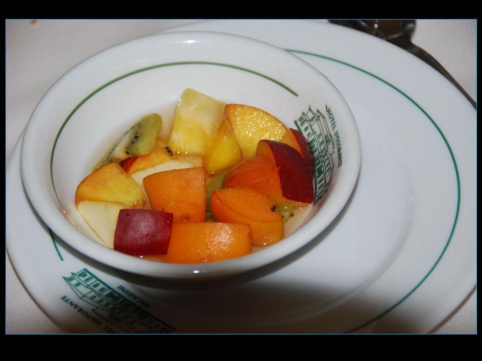 Le dessert Salade de fruits frais
