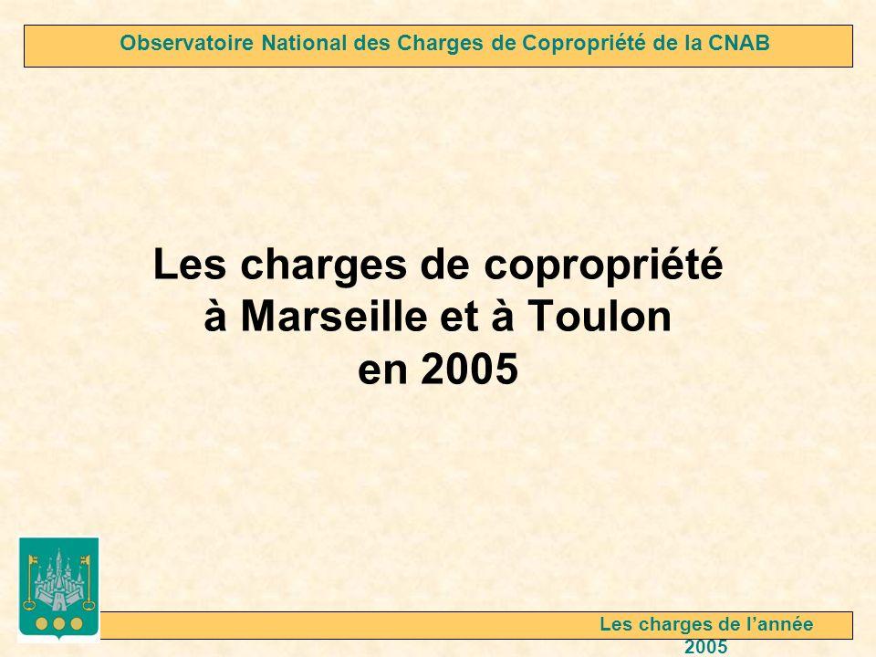 Les charges de copropriété à Marseille et à Toulon en 2005 Observatoire National des Charges de Copropriété de la CNAB Les charges de lannée 2005