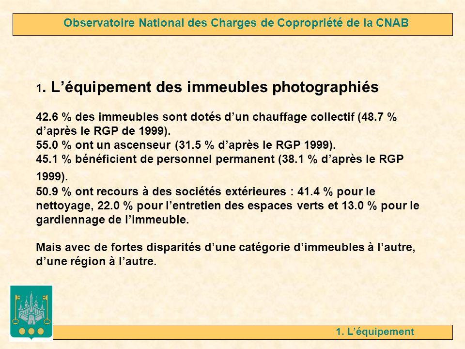 1.Léquipement Selon la catégorie dimmeubles.