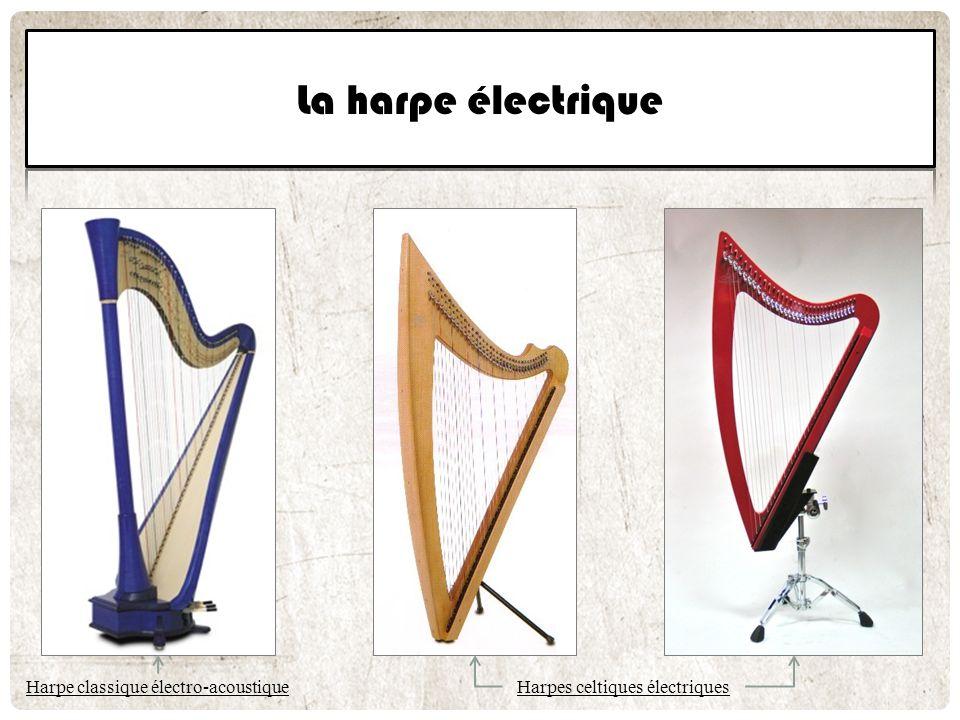 Harpe classique électro-acoustique Harpes celtiques électriques
