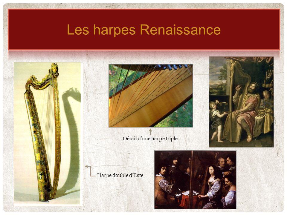 Détail dune harpe triple Harpe double dEste