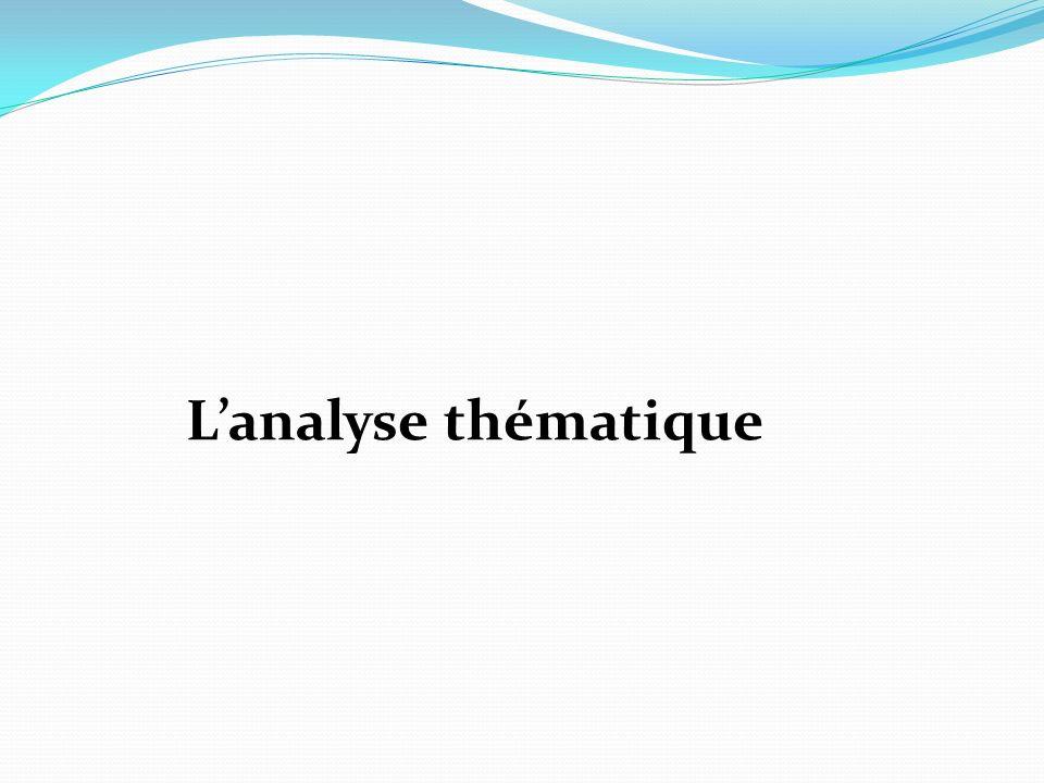 Lanalyse thématique