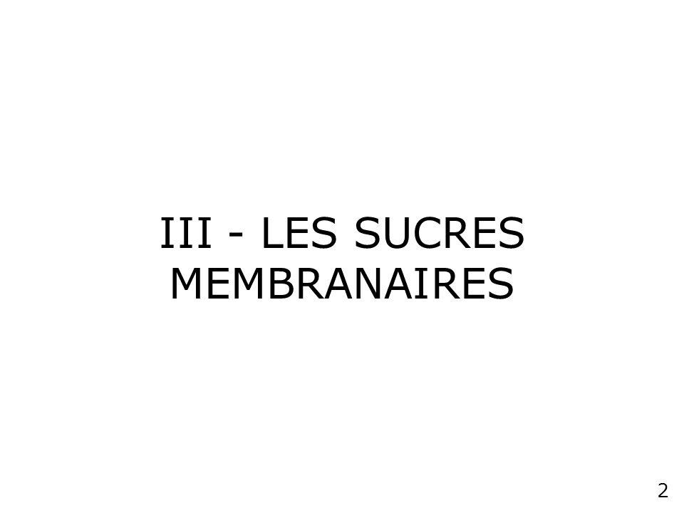 1 STRUCTURE DE LA MEMBRANE