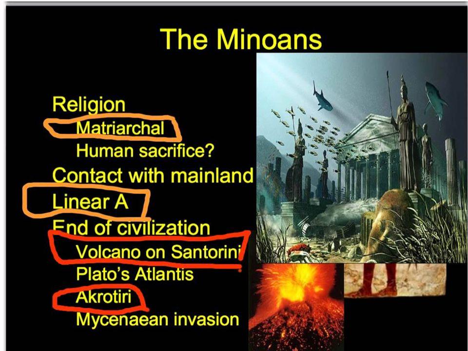 Des divinités féminines étaient vénérées par les Minoens, on a retrouvé des représentations sous la forme de Déesses aux serpents et aux seins nus.