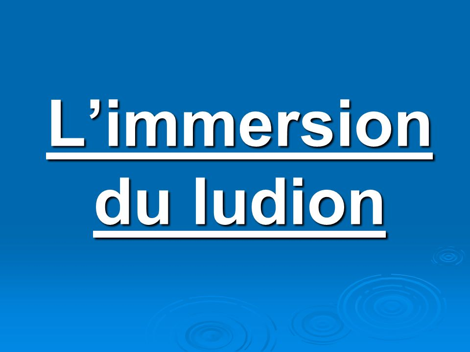 Limmersion du ludion