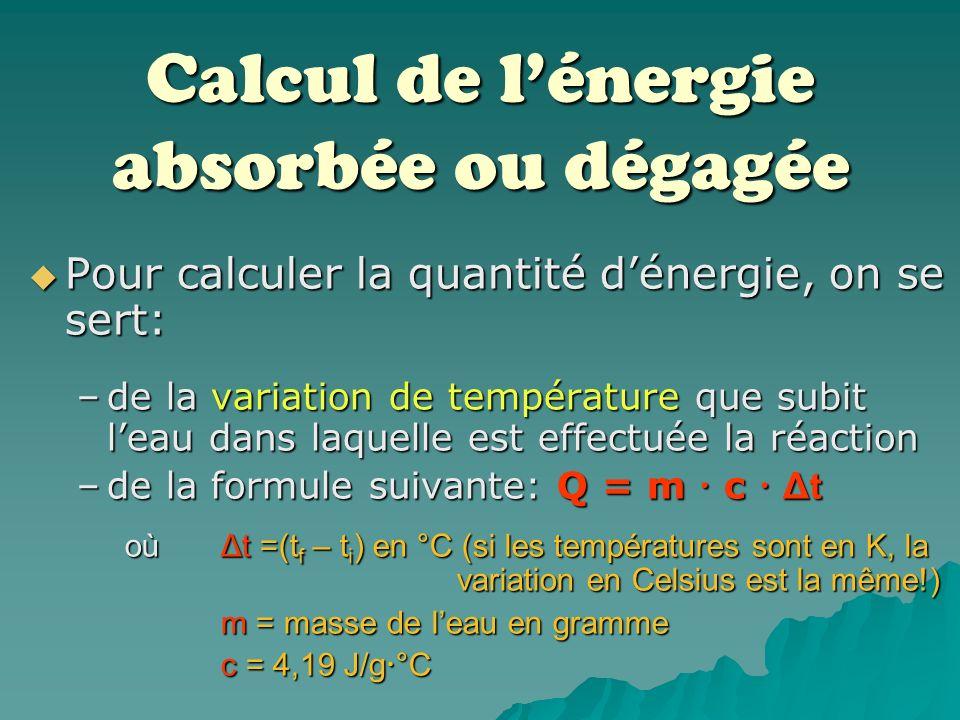 Lenthalpie, énergie interne des molécules Ainsi, lors des collisions entre les molécules, lorsque leur force dimpact est plus grande que la force datt