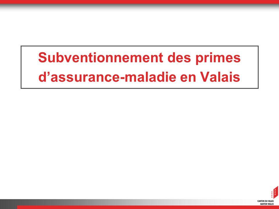 Subventionnement des primes dassurance-maladie en Valais