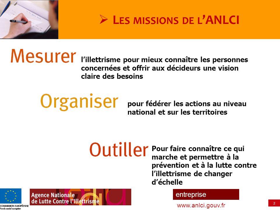 2 entreprise www.anlci.gouv.fr lillettrisme pour mieux connaître les personnes concernées et offrir aux décideurs une vision claire des besoins pour f