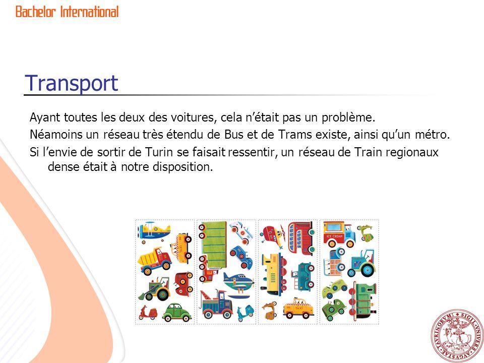Transport Ayant toutes les deux des voitures, cela nétait pas un problème. Néamoins un réseau très étendu de Bus et de Trams existe, ainsi quun métro.