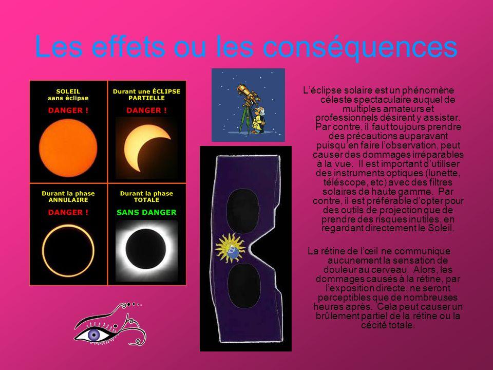Les effets ou les conséquences Léclipse solaire est un phénomène céleste spectaculaire auquel de multiples amateurs et professionnels désirent y assister.