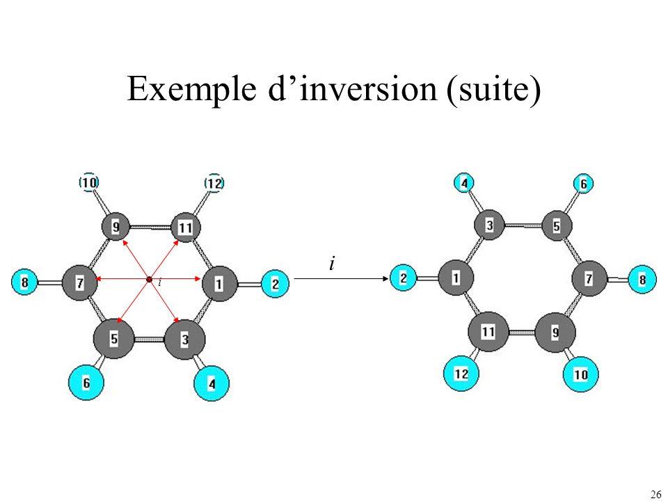 26 Exemple dinversion (suite) i i