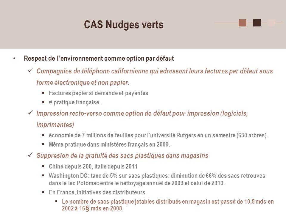 12 CAS Nudges verts Respect de lenvironnement comme option par défaut Compagnies de téléphone californienne qui adressent leurs factures par défaut so