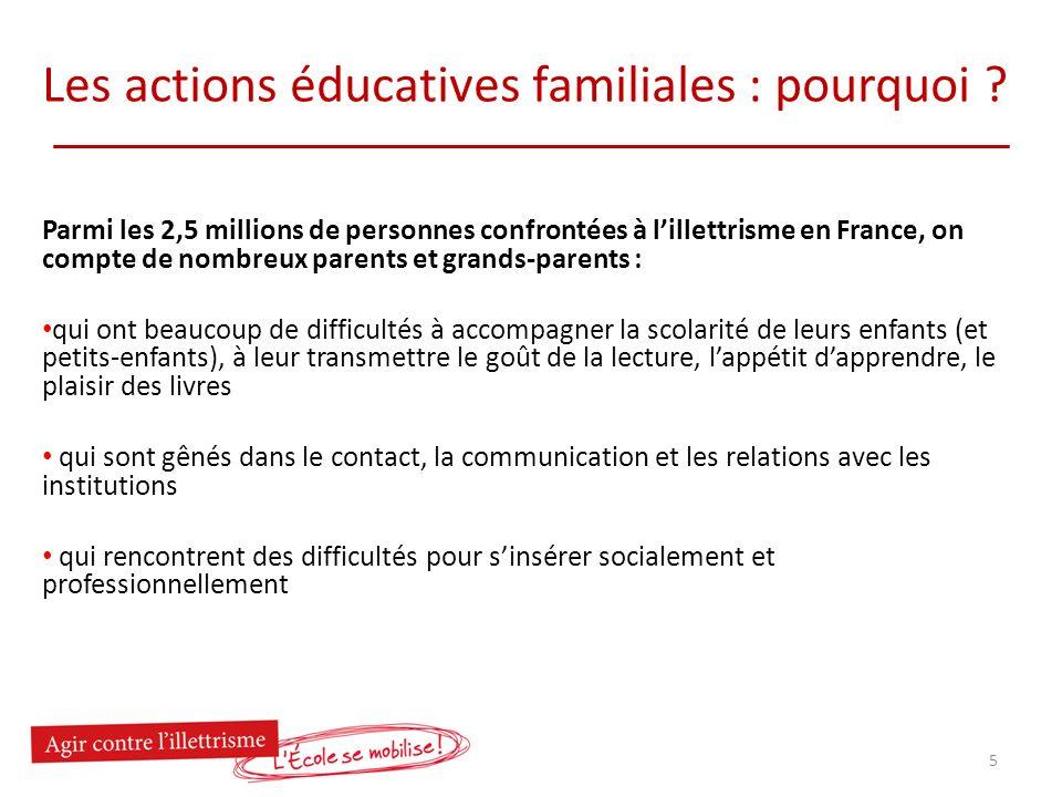 Les actions éducatives familiales : quels enjeux au service de la réussite éducative .