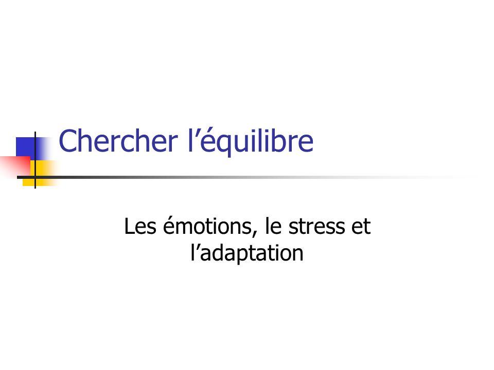 Chercher léquilibre Les émotions, le stress et ladaptation