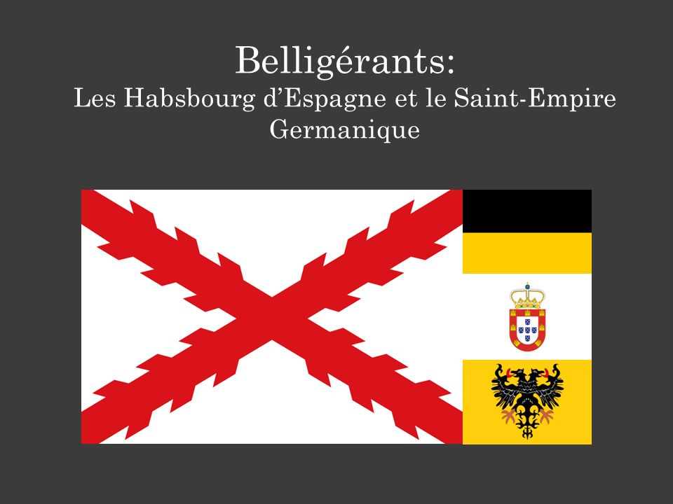 Belligérants: Les Habsbourg dEspagne et le Saint-Empire Germanique