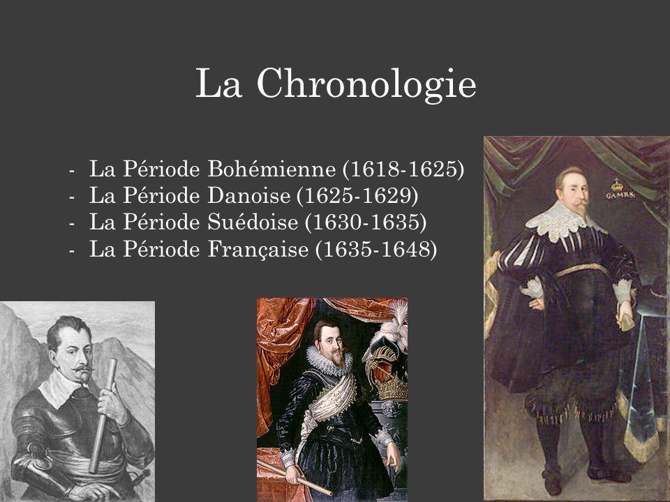 La Chronologie -La Période Bohémienne (1618-1625) -La Période Danoise (1625-1629) -La Période Suédoise (1630-1635) -La Période Française (1635-1648)