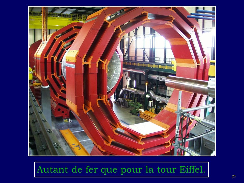 25 Autant de fer que pour la tour Eiffel.