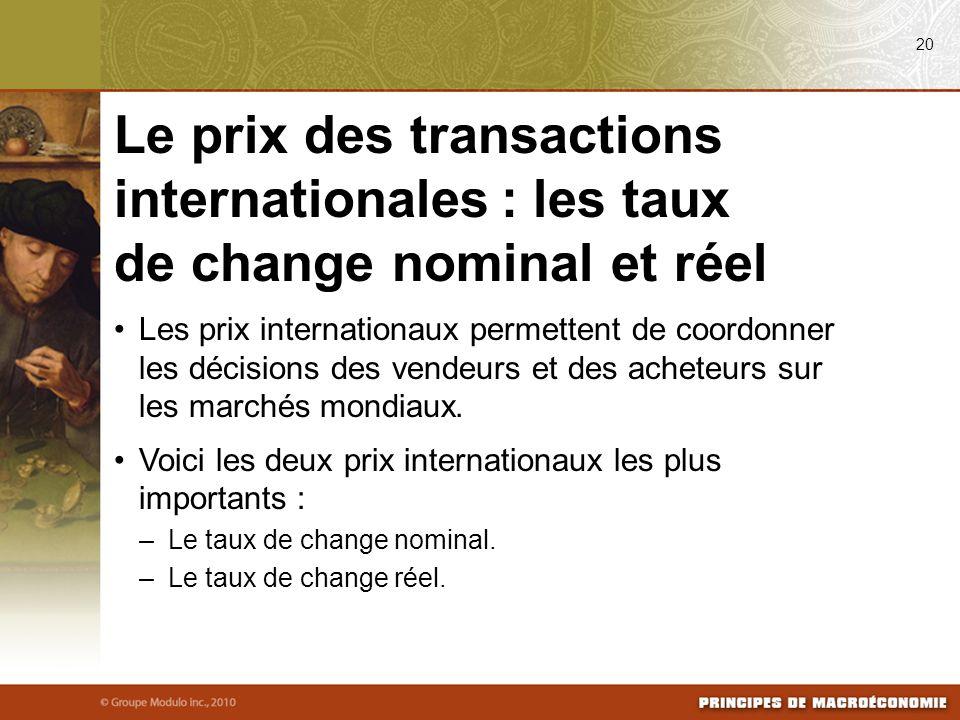 Les prix internationaux permettent de coordonner les décisions des vendeurs et des acheteurs sur les marchés mondiaux.
