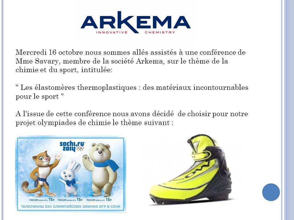 Plus fort, plus haut, plus vite : Les matériaux au service du ski. XXIXèmes Olympiades Nationales de la Chimie 2013/2014
