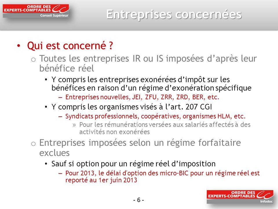 - 27 - Comptabilisation du CICE Comment comptabilise-t-on le CICE dans les entreprises soumises à lIR .