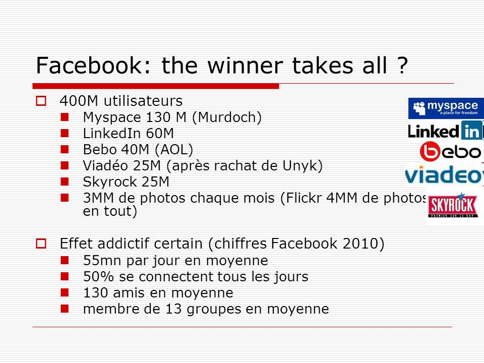 Facebook: the winner takes all .