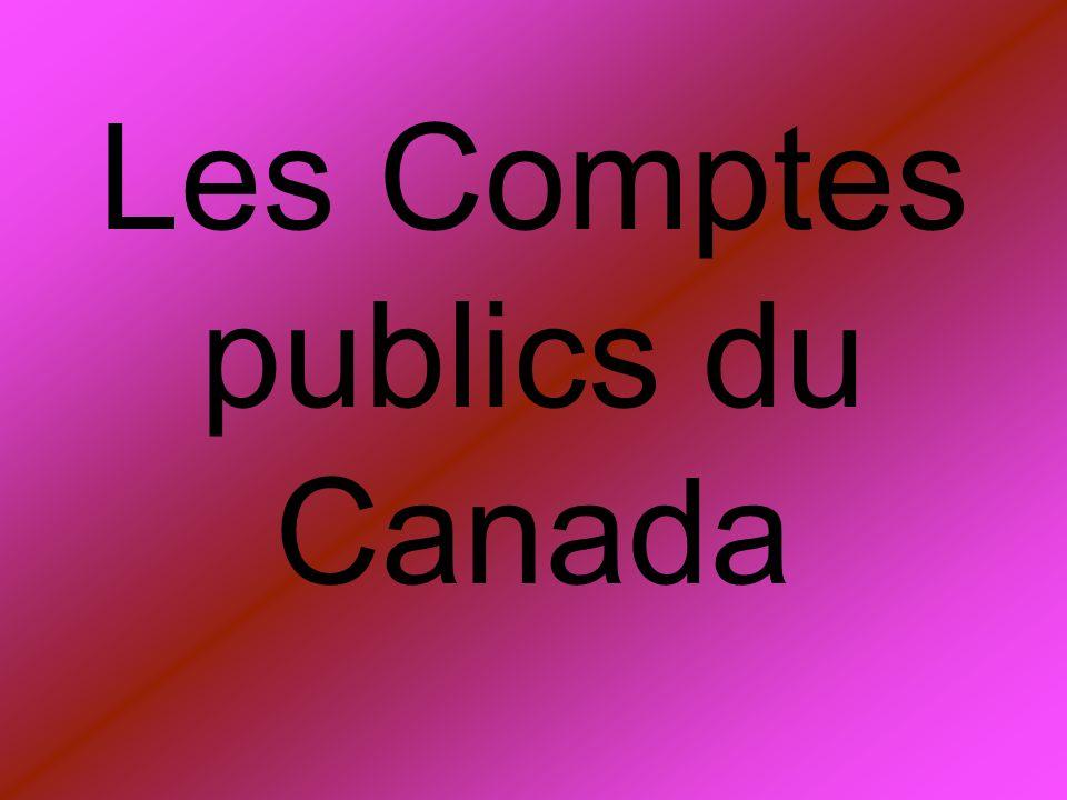 Les Comptes publics du Canada