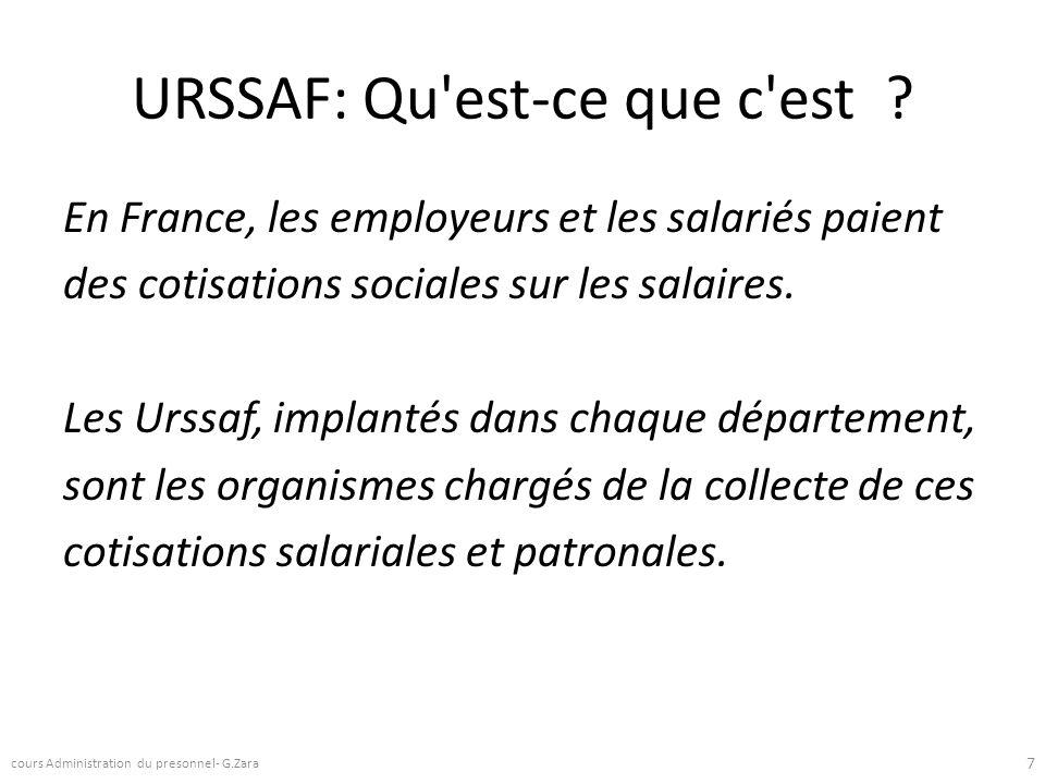 URSSAF: Qu'est-ce que c'est ? En France, les employeurs et les salariés paient des cotisations sociales sur les salaires. Les Urssaf, implantés dans c