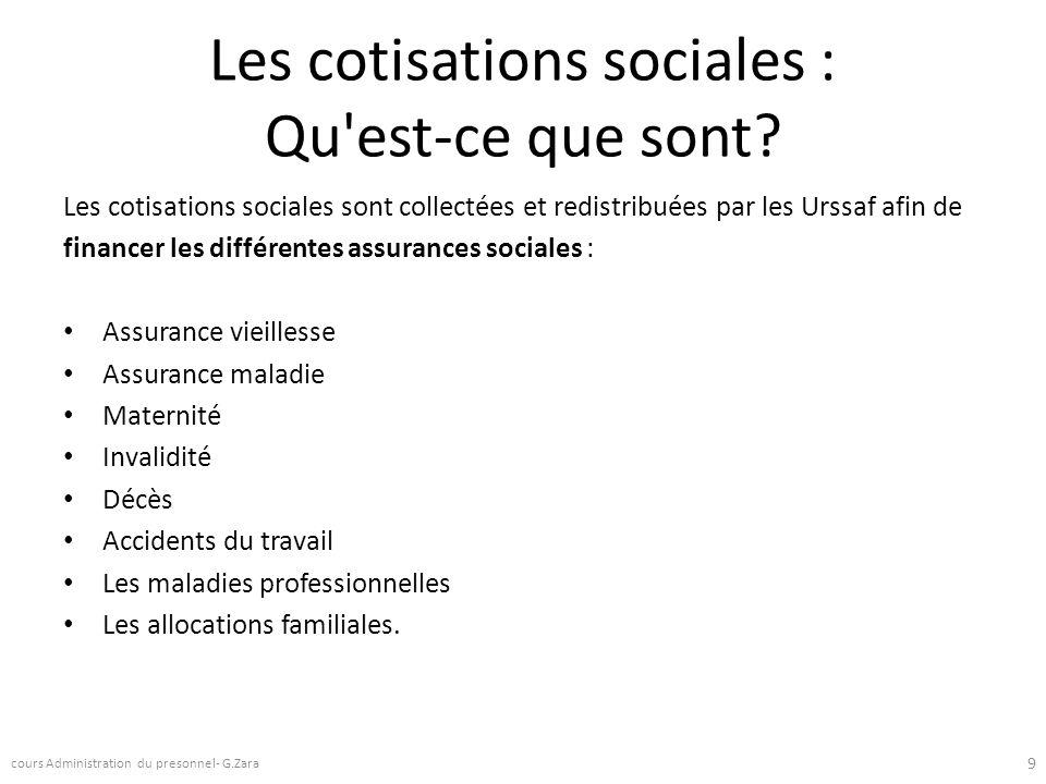 Les cotisations sociales : Qu'est-ce que sont? Les cotisations sociales sont collectées et redistribuées par les Urssaf afin de financer les différent