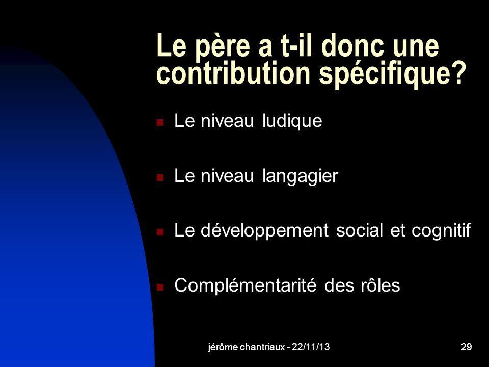 jérôme chantriaux - 22/11/1329 Le père a t-il donc une contribution spécifique.