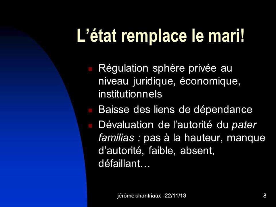 jérôme chantriaux - 22/11/138 Létat remplace le mari.