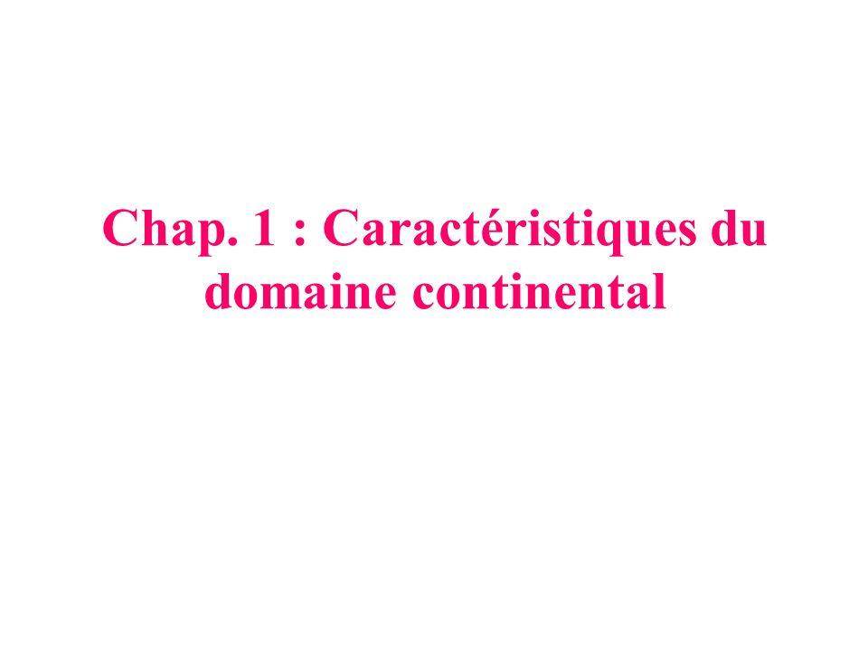 Chap. 1 : Caractéristiques du domaine continental