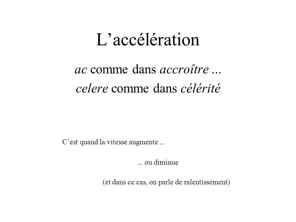 Cest pourquoi nous allons commencer par ce cas particulier : supposer laccélération constante, ce qui se définit par « la vitesse augmente proportionnellement au temps ».