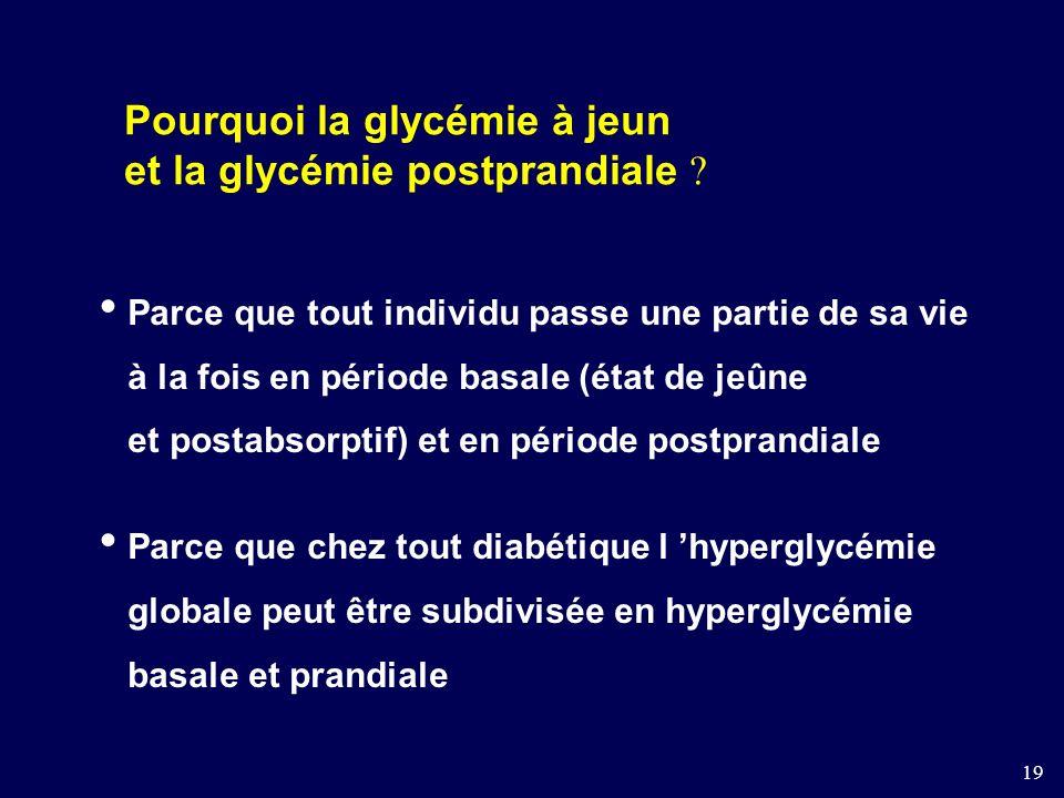 19 Pourquoi la glycémie à jeun et la glycémie postprandiale .