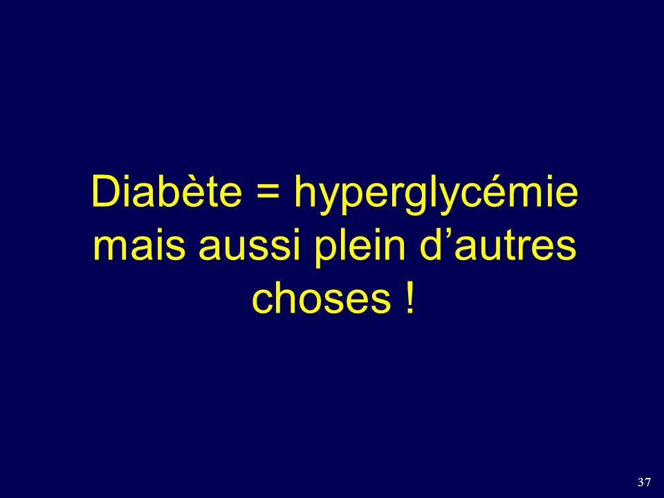 37 Diabète = hyperglycémie mais aussi plein dautres choses !