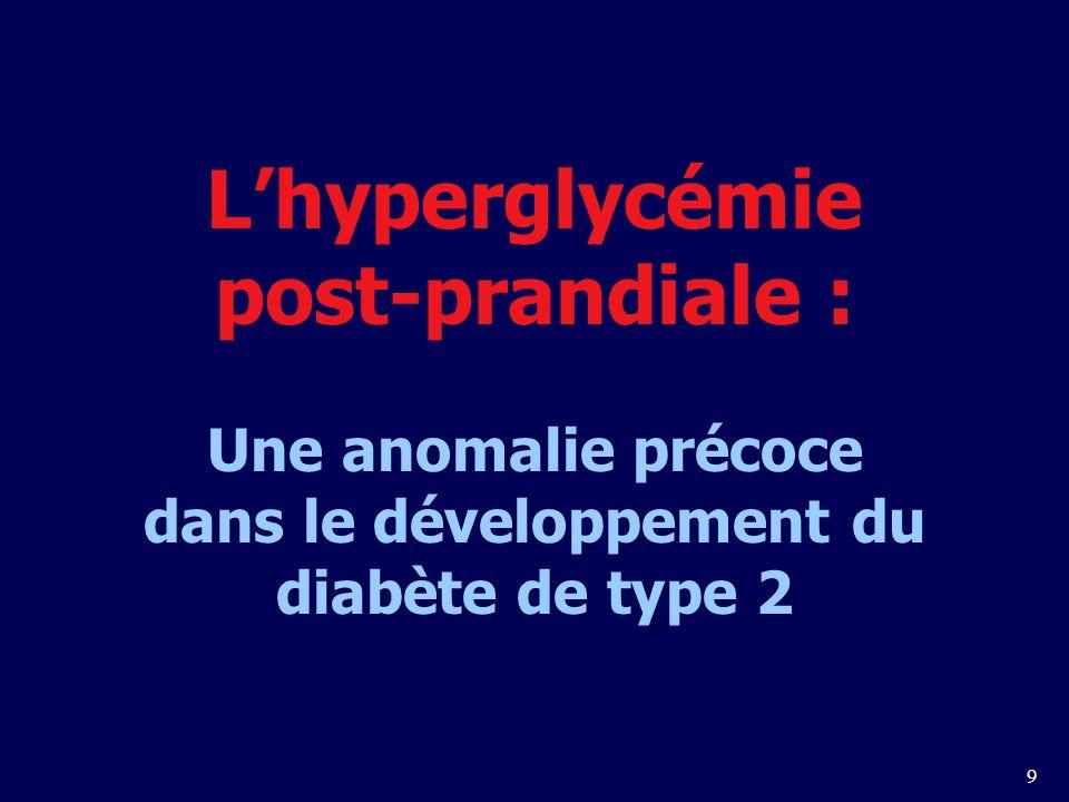9 Lhyperglycémie post-prandiale : Une anomalie précoce dans le développement du diabète de type 2