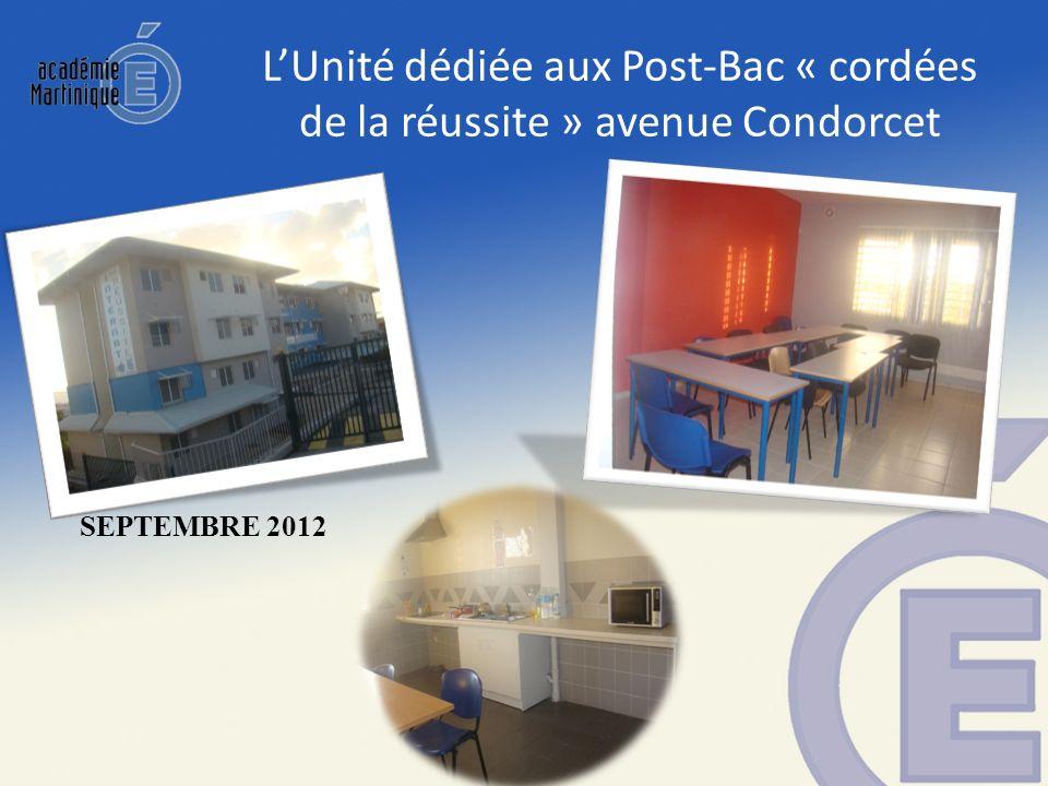 LUnité dédiée aux Post-Bac « cordées de la réussite » avenue Condorcet SEPTEMBRE 2012