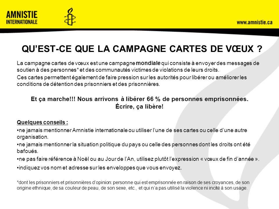 QUEST-CE QUE LA CAMPAGNE CARTES DE VŒUX .