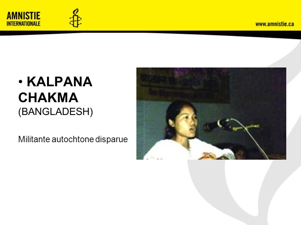 KALPANA CHAKMA (BANGLADESH) Militante autochtone disparue