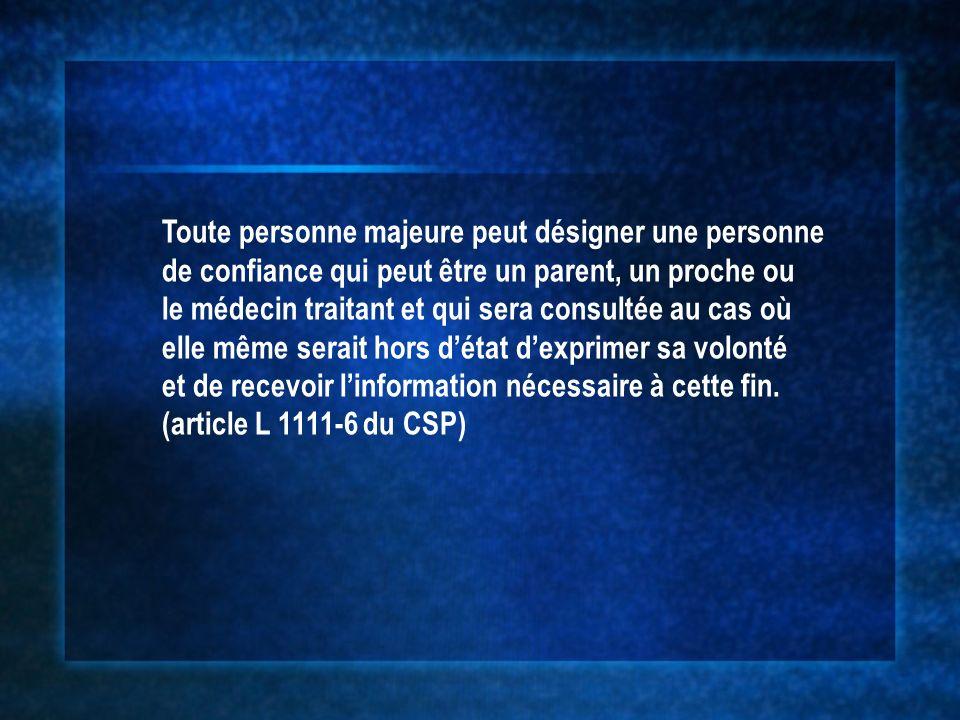 Les questions en suspens Le décret 2006-119 du 6 février 2006 (JO du 7/2/06) précise la notion de directives anticipées: Cest un document écrit, daté et signé par son auteur dûment identifié par ses nom, prénom, date et lieu de naissance.