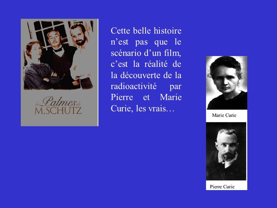 Cette belle histoire nest pas que le scénario dun film, cest la réalité de la découverte de la radioactivité par Pierre et Marie Curie, les vrais…