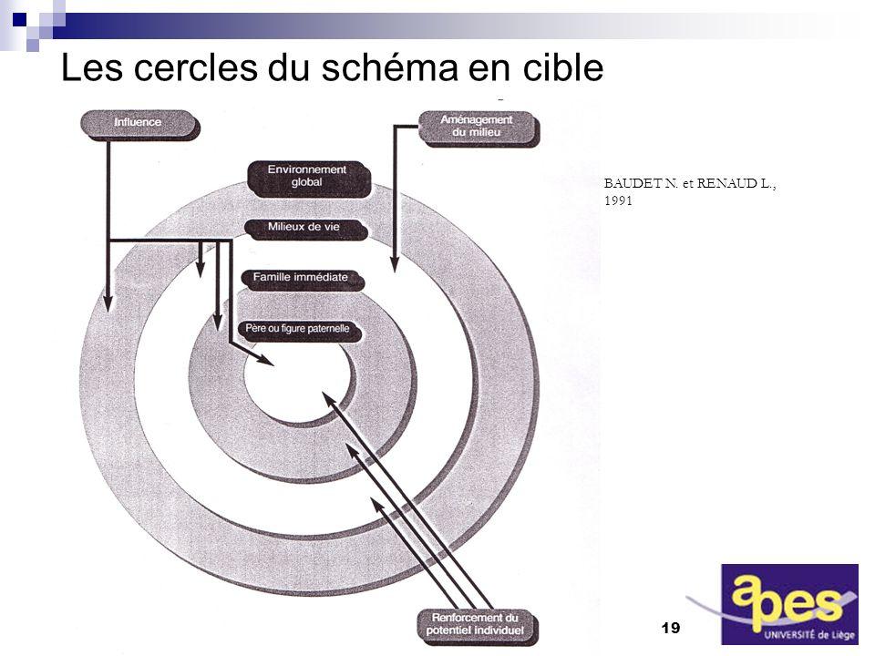Rennes - avril 2005 19 APES-Ulg / C.Vandoorne Les cercles du schéma en cible BAUDET N.
