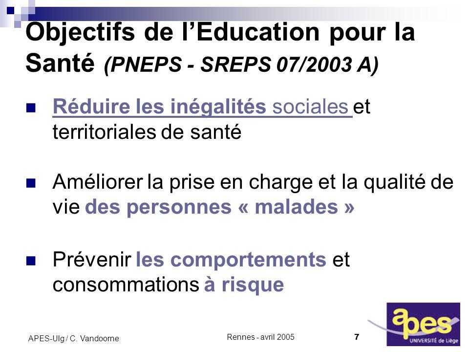 Rennes - avril 2005 7 APES-Ulg / C.