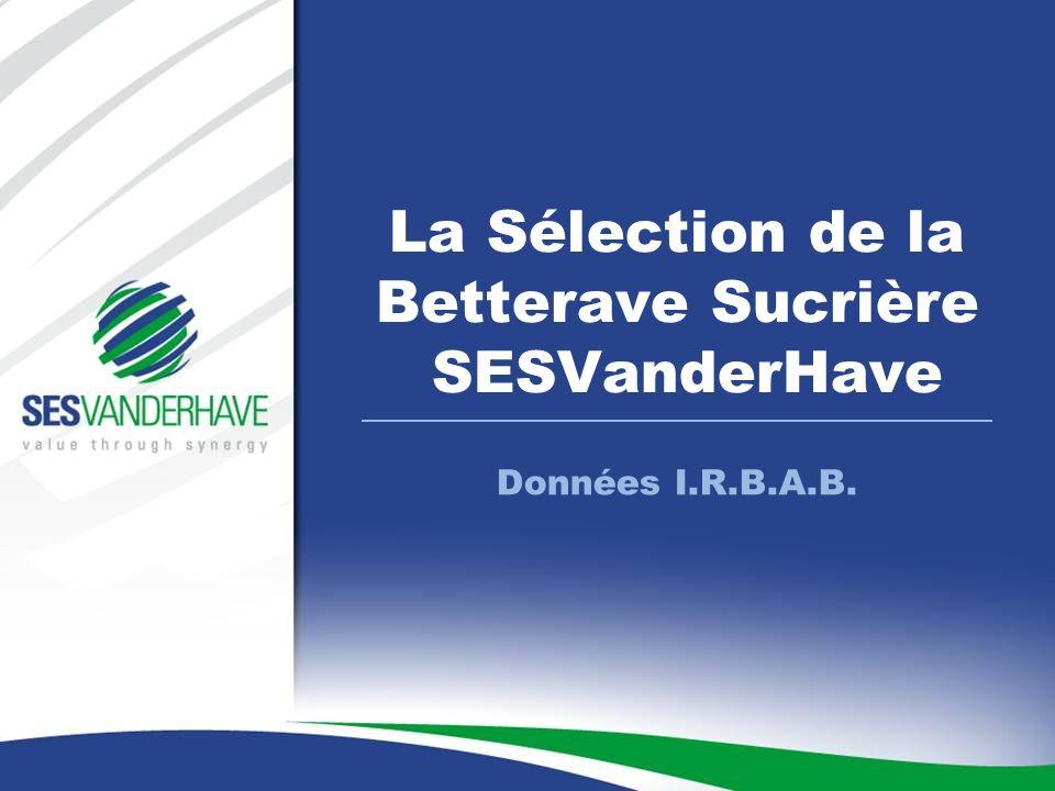 Données I.R.B.A.B. La Sélection de la Betterave Sucrière SESVanderHave