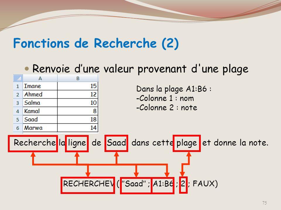 valeur_proche représente une valeur logique indiquant si vous souhaitez que la fonction RECHERCHEV recherche une valeur exacte ou approximative de cel
