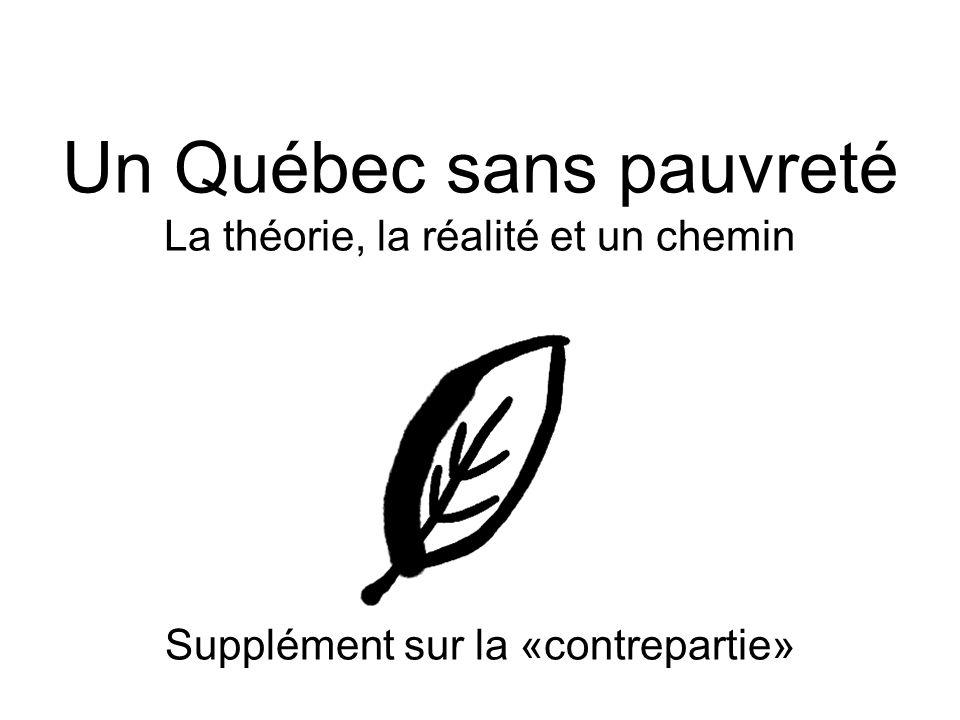 Présenté par le Collectif pour un Québec sans pauvreté au ministère de lEmploi, de la Solidarité sociale et de la Famille le 9 septembre 2003