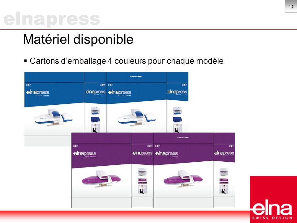 13 Matériel disponible Cartons demballage 4 couleurs pour chaque modèle elnapress