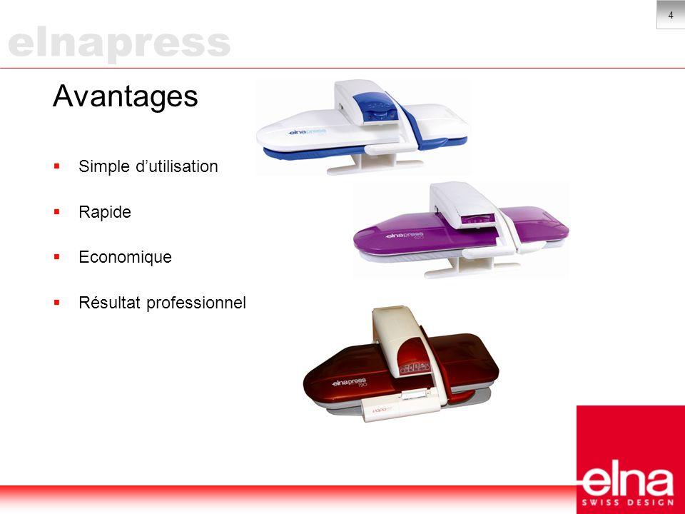 5 Utilisation simple Sans efforts: Ne repassez plus debout mais confortablement assis grâce à lElnapress.