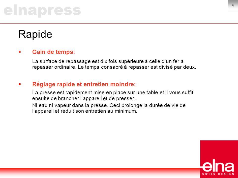 7 Economique Faible consommation électrique: La consommation moyenne de la presse est de 600 à 800 Watt.