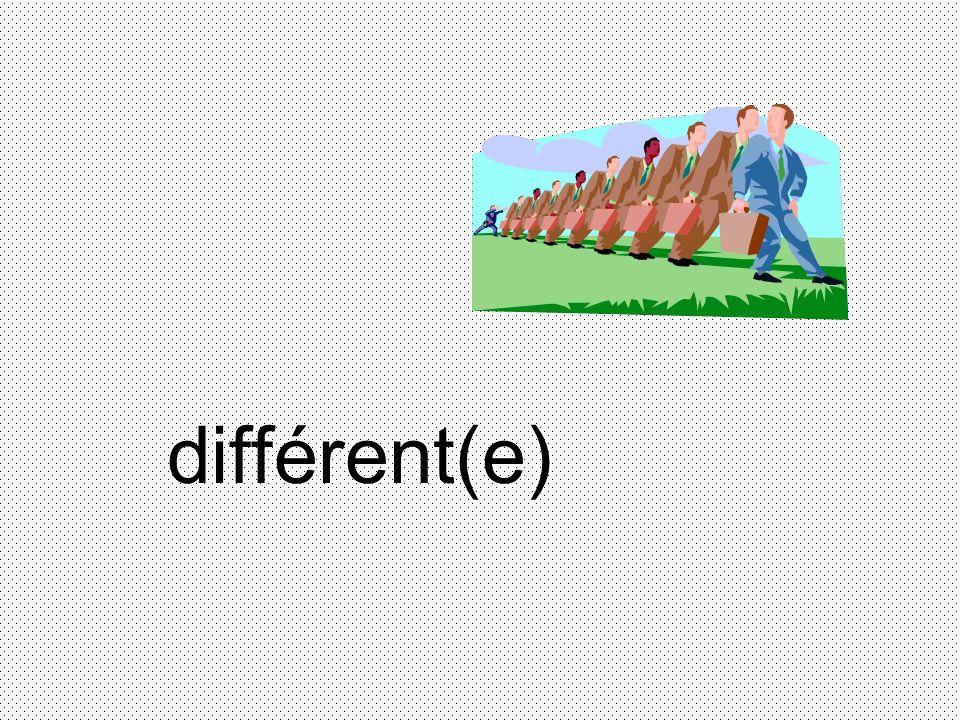 différent(e)